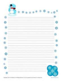 winter templates winter printable lined writing paper