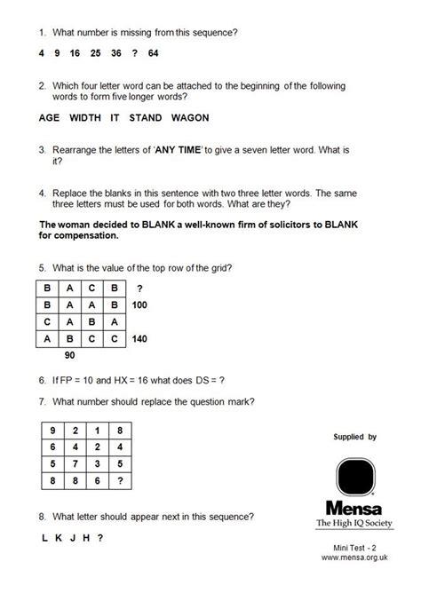 test qi mensa smart enough for mensa try a sle iq test ahead of