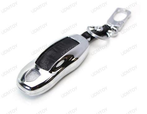 premium chrome metal key fob shell cover for porsche
