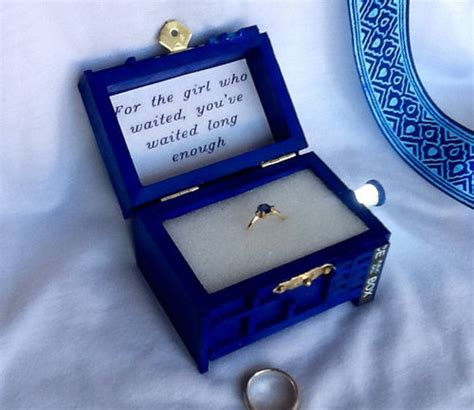 the tardis engagement ring box for the who waited
