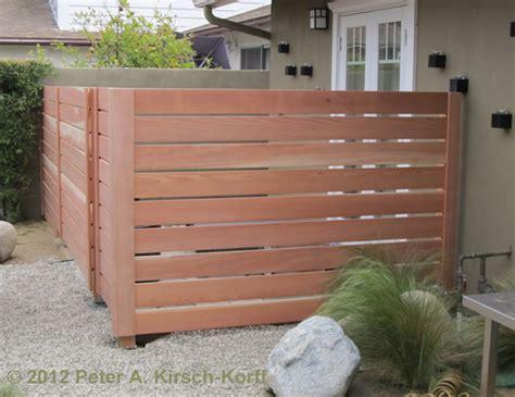 backyard oasis on modern fence horizontal