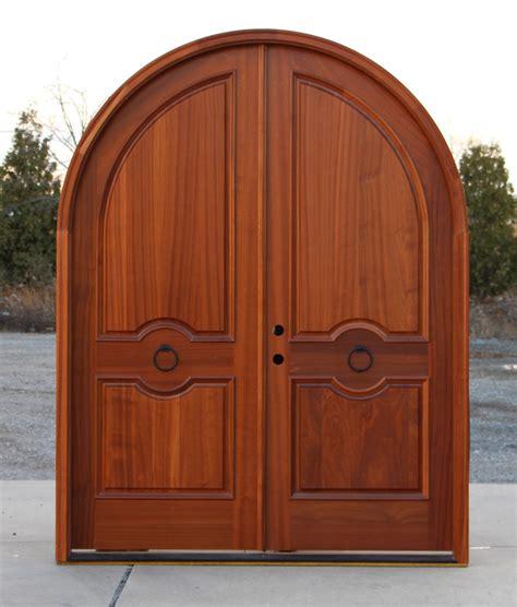 Front Door Arch Arched Doors Exterior Mahogany