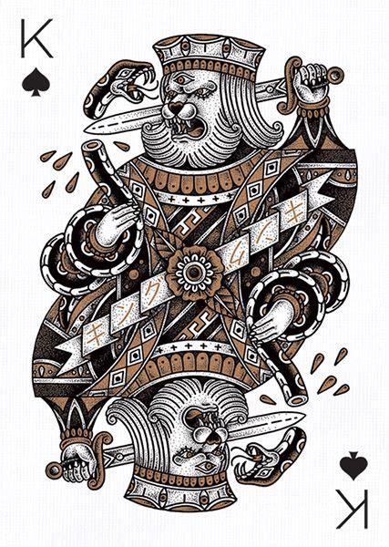 king of spades tattoo pin by hawk on tarot card divination