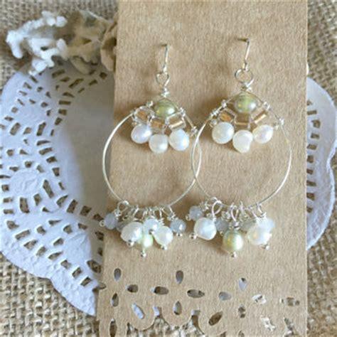 wire wrapped chandelier earrings best wire wrapped hoop earrings with products on wanelo