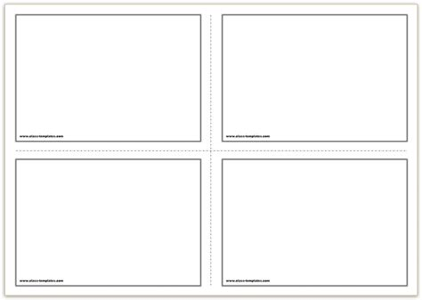 template cards free printable flash cards template