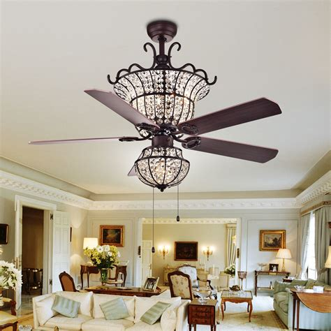 ceiling fan with chandelier light warehouse of charla 4 light 52 inch
