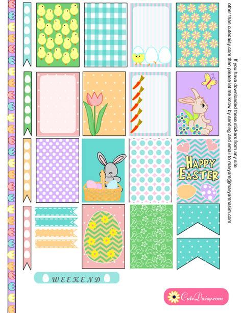 happy planner free printable stickers free printable easter stickers for happy planner and eclp