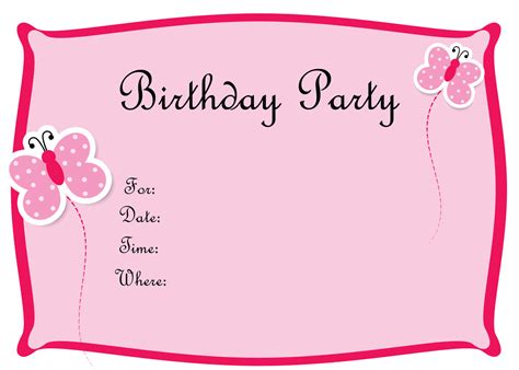 free template for invitation card source eysachsephoto birthday invitations