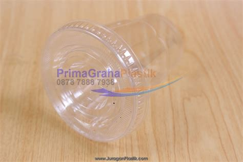Pet Puding 240ml sip cup 8 oz tutup dome flat stock ready home