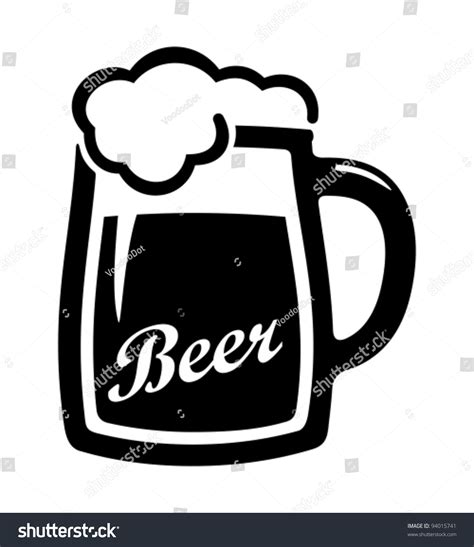 beer vector vector black beer icon stock vector 94015741 shutterstock