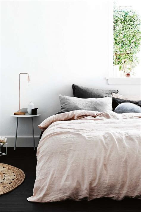 Dark Grey Linen Duvet Cover 25 Best Ideas About Pink Bed Linen On Pinterest Natural