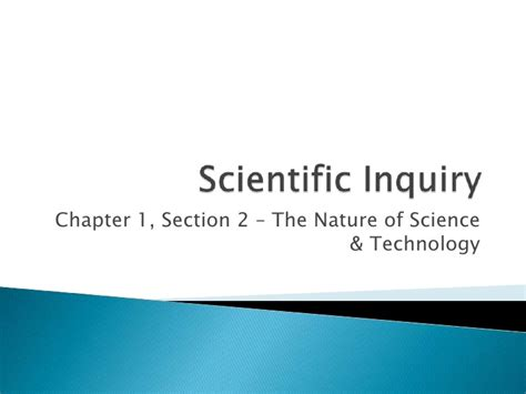 chapter 1 section 2 the nature of science chapter 1 section 2