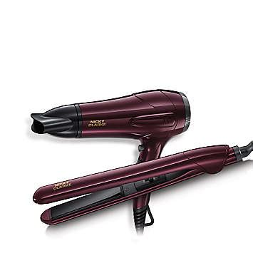 Hair Dryer And Straightener Set nicky clarke hairdryer straighteners gift set freemans
