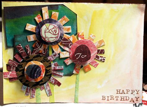 Happy Birthday Papercraft - non layout paper crafts happy birthday card