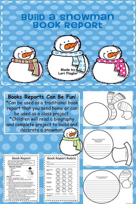 Snowman Book Report Project