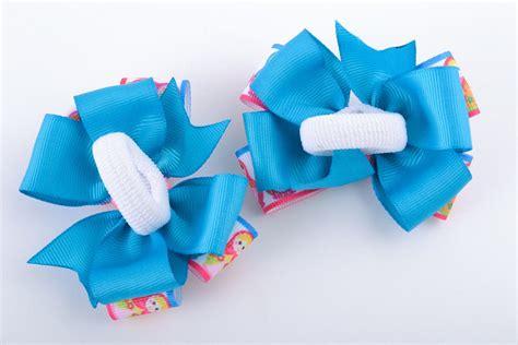 Handmade Hair Ties - madeheart gt set of 2 bright colorful handmade hair ties