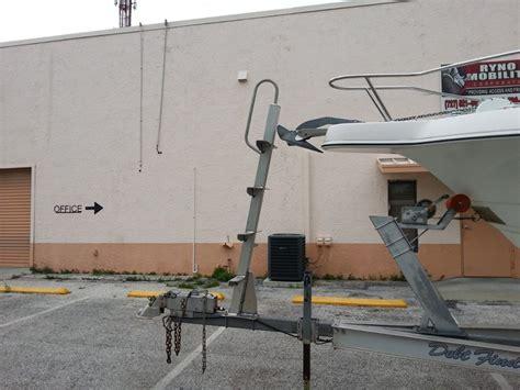 radar mount trailer ladder the hull truth boating - Boat Trailer Mounted Ladder
