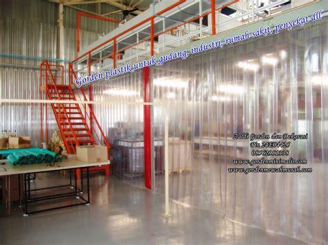 Tirai Plastik Gudang jual tirai plasti atau gorden plastik transparan untuk