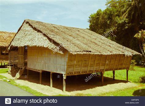 buy house in kota malaysia borneo traditional bamboo house at kota kinabalu stock photo royalty free