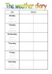 english teaching worksheets a diary