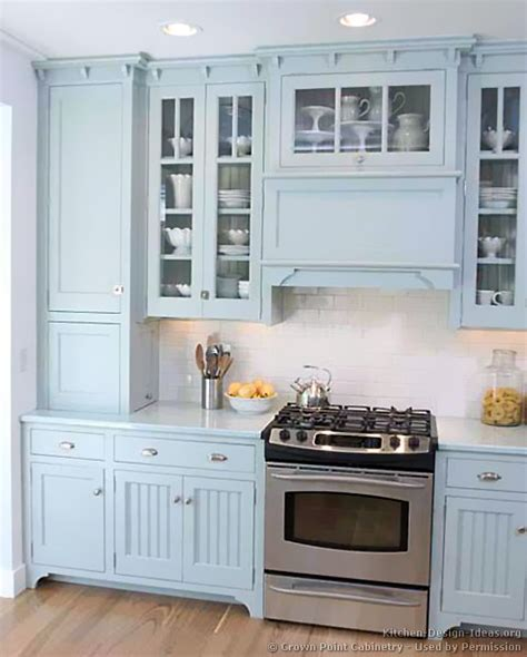 Blue Cabinets | pictures of kitchens traditional blue kitchen cabinets