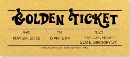 golden ticket templates word excel templates