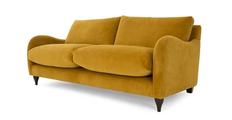 plush loveseat sofia 2 seater sofa plush turmeric velvet made com
