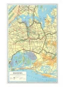 Map Of Queens New York by Map Of Queens New York Poster Allposters Ca