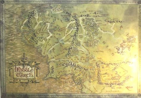 map of middle earth print the lord of the rings the hobbit map of middle earth