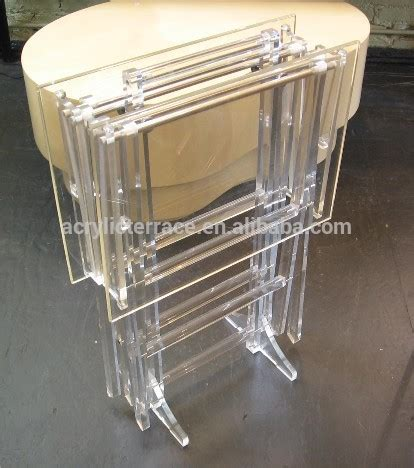 acrylic butler tray table credence side table ha14030101053 acrylic folding tray