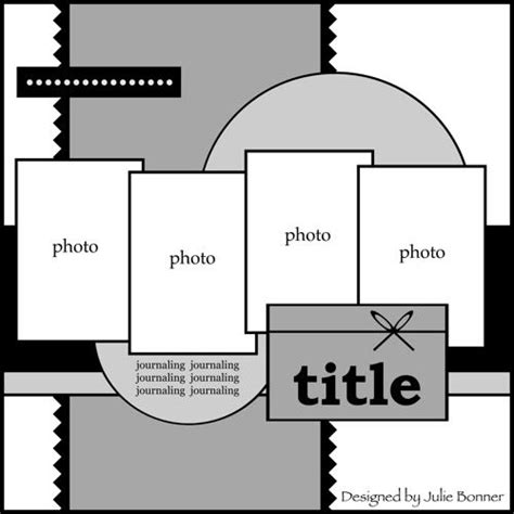 pages like layout it smallish photos in a line like the circular elements