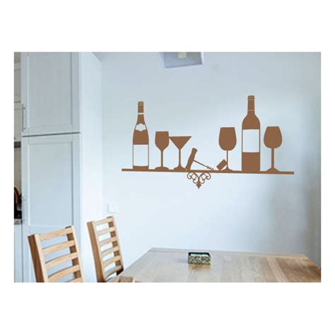 Shelf Stickers by Wall Decals And Stickers For Kitchens Wine Shelf