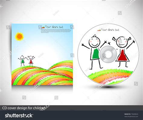 cd cover layout illustrator cd cover design childrenvector illustration stock vector