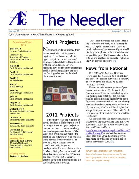 sle of newsletter image gallery sle newsletters