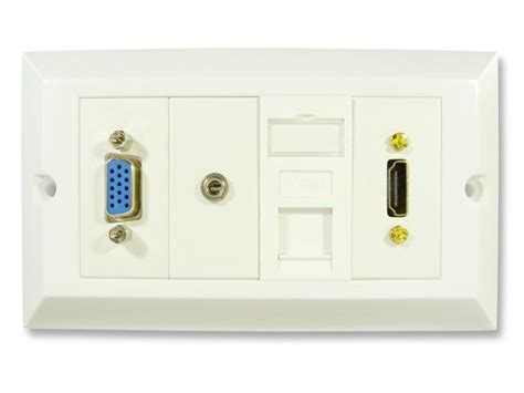 Faceplate Hdmi Rj45 By Subway hdmi and computer wall plate hdmi vga 3 5mm and