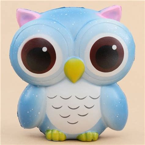 Squishy Owl 1 blue owl squishy animal squishy squishies kawaii shop modes4u