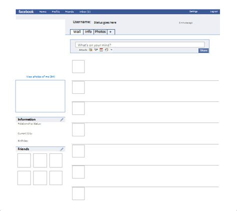 facebook profile template for word pictures to pin on