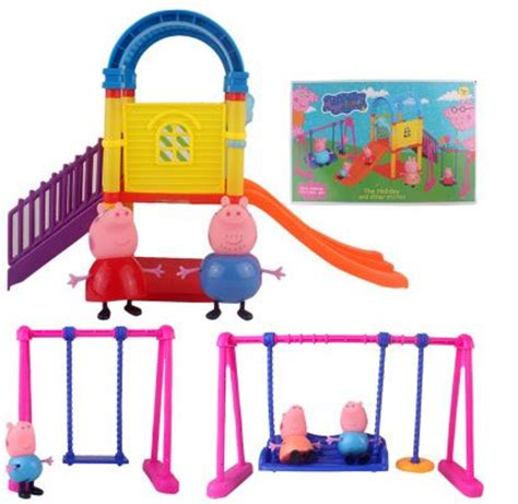 peppa pig swing set peppa pig family swing and slide set review and buy in