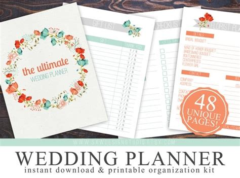ultimate printable wedding planner diy wedding planner binder printables bepatient221017 com