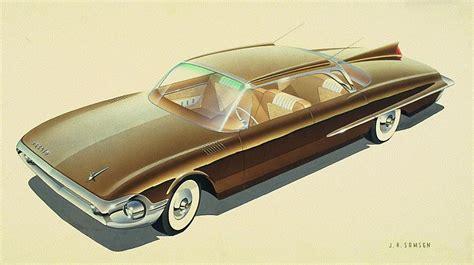 Inside Garage Designs 1961 desoto vintage styling design concept rendering