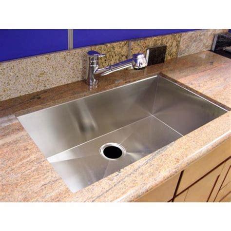 Zero Radius Kitchen Sink 30 Inch Stainless Steel Undermount Single Bowl Kitchen Sink Zero Radius Design