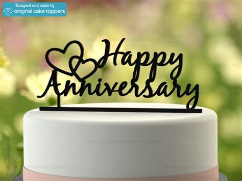 Unique Decorations For Home by Quot Happy Anniversary Quot Black Wedding Anniversary Cake