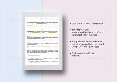 novation agreement 7 free sle novation agreement templates to
