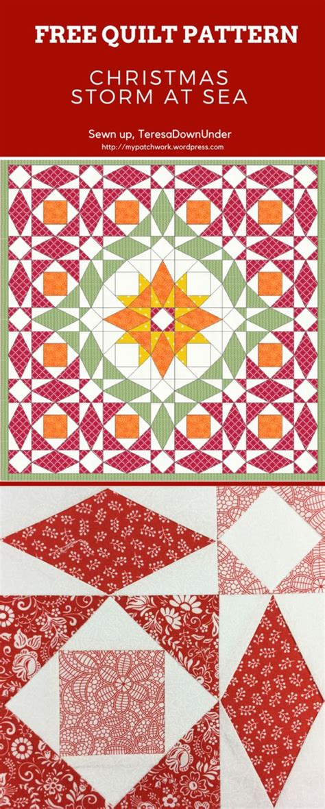 christmas pattern download christmas storm at sea quilt free pattern download