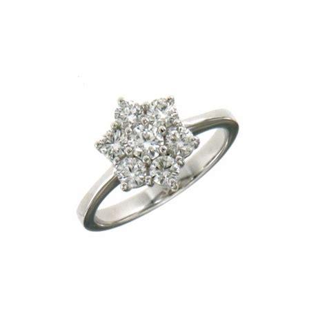 anello fiore diamanti anello fiore oro bianco e diamanti
