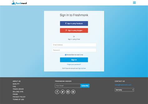 behance login login page ui ux redesign freshmonk on behance