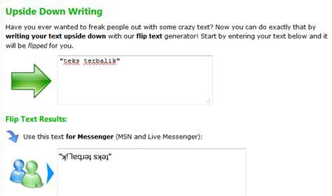 teks prosedur membuat lu hias muke lu jauh blogspot cara membuat teks terbalik
