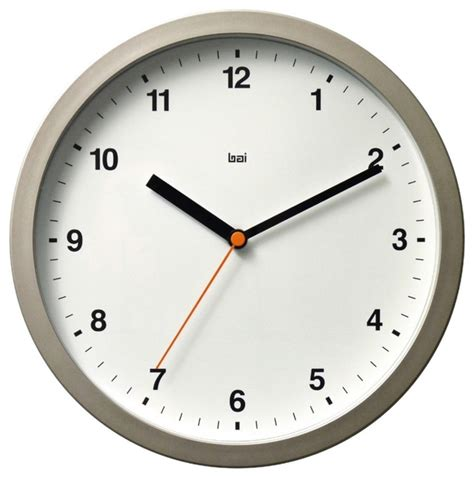modern wall clocks contemporary designer helio white 10 quot wide modern wall