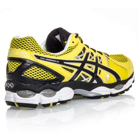 Sepatu Asics Gel Nimbus 14 asics gel nimbus 14 mens running shoes lemon black lightning sportitude