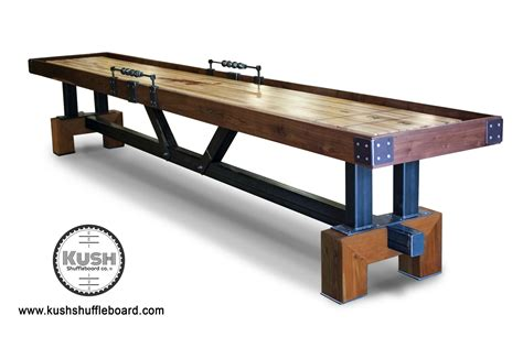 a shuffleboard table signature shuffleboard table the industrial farmhouse